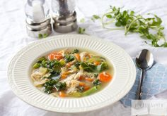 Easy Paleo Chicken  Soup & Kale Vegetable  Soup