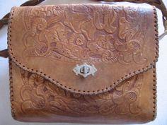 Vintage Leather Bag 70s