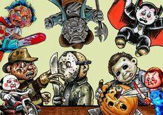 Garbage Pail Horror Icons