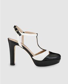 Zapatos de salón de mujer Gloria Ortíz de piel bicolor Zapatos De Salón f3df1f9084bb5