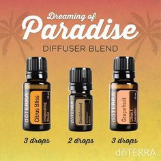 """""""Summer sandals and citrus all wrapped up in a diffuser blend you don't have to go all the way to the Bahamas to experience. #doterradiffuserrcipes #summer…"""""""
