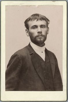 Gustav Klimt - Photo as a young man