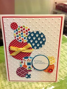 ** Handmade Card Using Embossing Folders And Paper Scraps @angiesmusings