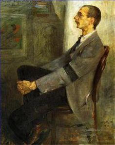 4 Portrait of the Painter Walter Leistilow impressionism expressionism Lovis Corinth