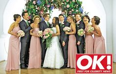 A great-looking wedding party. (Tom Fletcher from McFly gets married.)