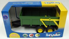 Green Dumping Trailer by Bruder Toy Toys