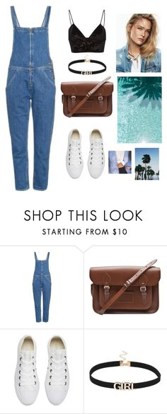 """""""blue in simple day"""" by faanciella on Polyvore featuring M.i.h Jeans, The Cambridge Satchel Company, Converse and Fleur du Mal"""