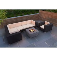 Sofa Set with Fire Table - A Collection by Anglina - Favorave