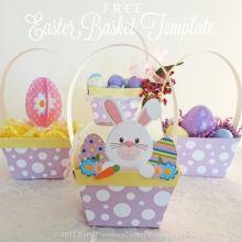 Free Printable Easter Baskets #freeprintables #easter #ishareprintables