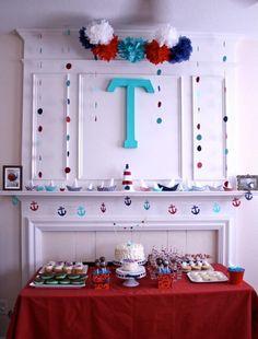 Trevor's Nautical First Birthday #nautical #party