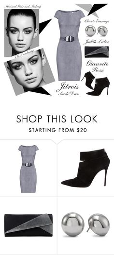 """""""A Suede Dress - Slicker Than Your Average"""" by latoyacl ❤ liked on Polyvore featuring Jitrois, Gianvito Rossi, Trowbridge, Judith Leiber and Chico's"""