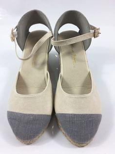 30dde6a76b92 Womens Beige Sandals Wedge Heel Ladies Summer Beach Strappy Shoes Size UK 5  New   eBay