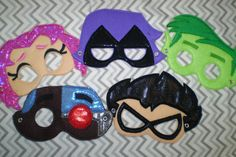 Teen Titans     Hey, I found this really awesome Etsy listing at https://www.etsy.com/listing/238004341/felt-mask-teen-titan-pretend-play-party