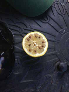 Cut a lemon in half and put cloves in it to keep pesky flies away.
