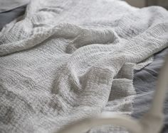 Soft Jacquard Throw | Duck Egg