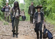 The Walking Dead - Michonne ( Danai Gurira ) - Carl Grimes ( Chandler Riggs )