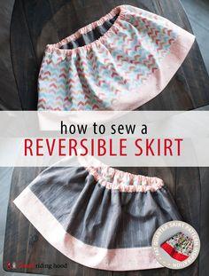How to sew a Reversible Fat Quarter Skirt {#FQSinspiration} | Thread Riding Hood