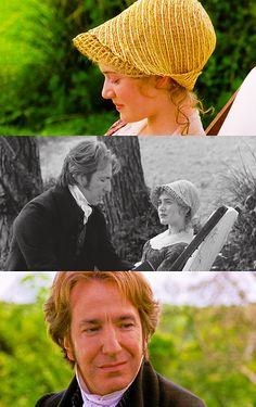 Kate Winslet (Marianne Dashwood) & Alan Rickman (Colonel Christopher Brandon) - Sense and Sensibility (1995) #janeausten #anglee
