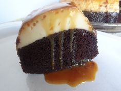 Magical chocolate & flan cake!   Incredible how it works... even better how it tastes!
