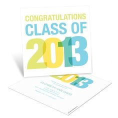 Graduation Announcements -- Stacked Success   Pear Tree Greetings