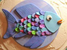 Rainbow Fish Cake Topper