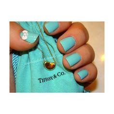"""China Glaze - """"For Audrey"""" - Love Tiffany Blue."""