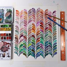 Josie Lewis Watercolor pattern