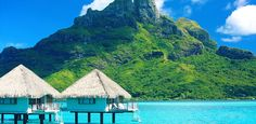 Bucket list trip to Bora Bora: Overwater bungalows, seclusion… South Pacific island not just for celebrities Romantic Destinations, Romantic Vacations, Romantic Getaways, Honeymoon Destinations, Romantic Travel, Honeymoon Ideas, Siena, Trip To Bora Bora, Islands In The Pacific