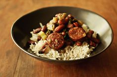 "Pableaux Johnson's Red Beans and Rice from ""Southern Soups & Stews: More than 75 Recipes from Burgoo and Gumbo to Etouffee and Fricassee,"" by Nancie McDermott."