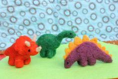 Felt dinosaur trex stegosaurus by JensFeltedJems on Etsy, $22.00