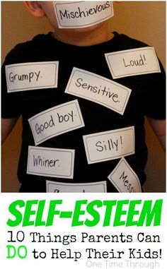 If you want your child to be HAPPY, stick up for themselves, and become who they are truly meant to BE - you HAVE to read this! Healthy Self-Esteem in Kids: 10 Things Parents Can DO to Help! {One Time Through} #Parenting