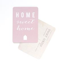Image of Carte Postale HOME SWEET HOME / ROSE POUDRÉ