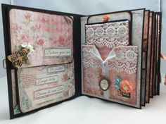 "STAMPERIA ""DREAM"" MINI ALBUM- 8-1/2″ X 6-1/2″ By Valeri - Scrapbooking and Paper Crafts J&S Hobbies and Crafts"