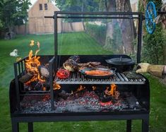 Argentine Wood fired Parrilla Asado Grill and Barbecue BBQ. Asado Grill, Argentine Grill, Bbq Equipment, Rack Of Ribs, Grill Design, Le Chef, Going Fishing, Firewood, Cast Iron
