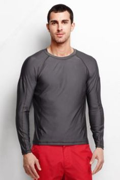 Men's Long Sleeve Swim Tee from Lands' End