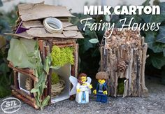 Milk Carton Fairy House