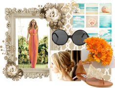 A fashion look from February 2013 featuring ankle strap sandals, earring jewelry and bride headband. Browse and shop related looks. Beach Bridesmaids, Orange Bridesmaid Dresses, Wedding Jobs, Wedding Ideas, Mens Beach Wedding Attire, Wedding Jitters, Bridesman, Bride Hair Accessories, Bride Hairstyles