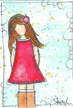 Léa by Studio Shirel, via Flickr Day Of Pentecost, Mary K, Open Art, Doodle Designs, Journal Art, Mix Media, Mixed Media Collage, Art Journal Inspiration, Altered Art