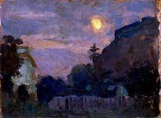 Evening Lunar - Jan Stanisławski , 1900 Polish,Oil