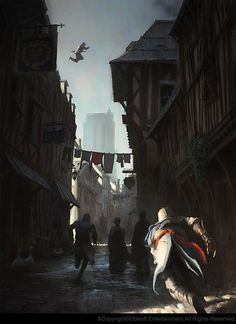 Assassin's Creed Unity Concept Art by Gilles Beloeil