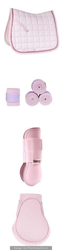 Horze Lilac Set - Horze Sparkle Saddle Pad - Horze Nest Bandages - Horze Tendon Boots - Horze Fetlock Boots