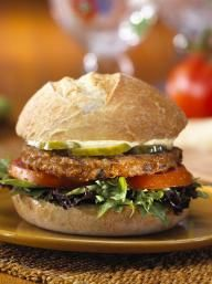 Parmesan-Mustard Topped Burger | KitchenDaily.com