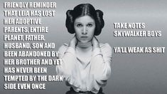 Princess leia meme skywalker boys never tempted by the dark side star wars disney