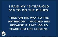 It's called parenting.