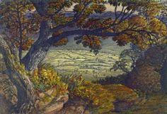 """Samuel Palmer, """"The Weald of Kent"""" (c. 1833)"""