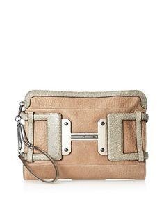 60% OFF Halston Heritage Women's Leather H Executive Clutch (Chamois Multi)