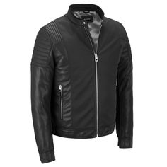 Black Rivet Multi-Textured Faux-Leather Jacket $59.99!