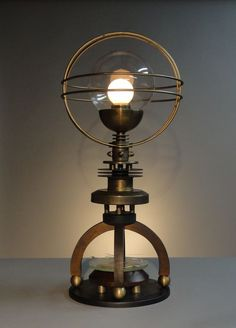 """Petite Cosmo"" Moon Phase Lamp by Art Donovan"