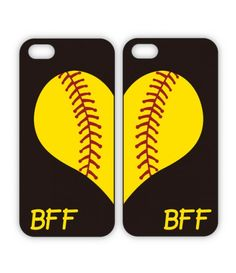 Best Friend LOVE cases for iPhone or Galaxy - both of Softball