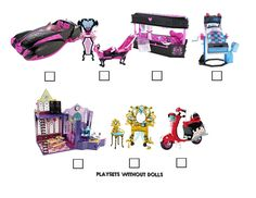 Monster High Visual Checklist Page 6 by BackinDrac